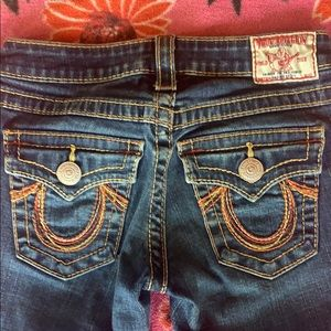 True Religion Rainbow Becky Jeans size 24